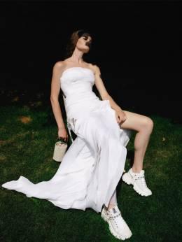 Платье Из Шифона С Оборками Ermanno Scervino 70I5KT018-MTA2MDE1