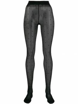 Saint Laurent - sheer dotted tights 590YBMY0953665890000