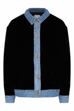 Черная куртка с контрастной отделкой Sandro 914145943