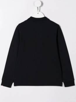 Moncler Kids - striped collar polo shirt 05658563095386063000