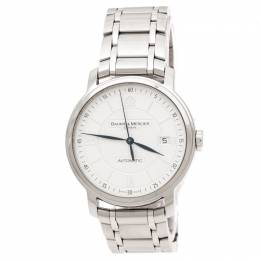 Baume& Mercier Silver Stainless Steel Classima 65615 Men's Wristwatch 39 mm Baume&Mercier 217639