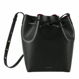 Mansur Gavriel Black Leather Bucket Bag 204002