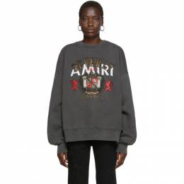 Amiri Black Beverly Hills Sweatshirt 192886F09800603GB