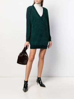 Elisabetta Franchi - long-line v-neck jumper 8S96E095358899000000