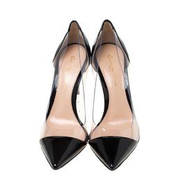 Gianvito Rossi Black Patent Leather and PVC Plexi Pumps Size 36 216896