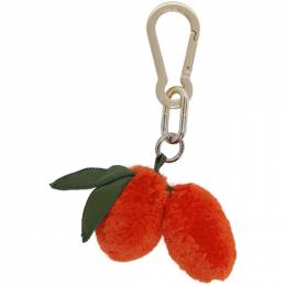 Yves Salomon Orange Kumquat Key Ring 192594F02500601GB