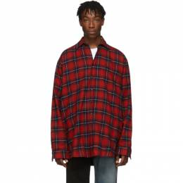 Vetements Reversible Red and Green Oversized Shirt 192669M19200502GB