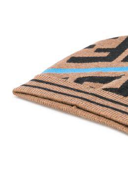 Fendi Kids - TEEN FF pattern knitted beanie 690A0M59535805800000