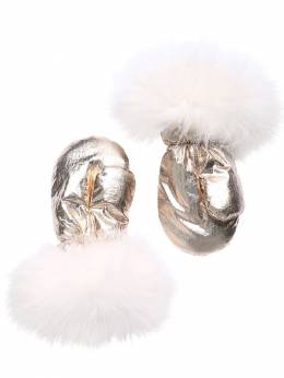 Nylon & Fur Gloves Yves Salomon Enfant 70IFGN012-QjIwNTQ1