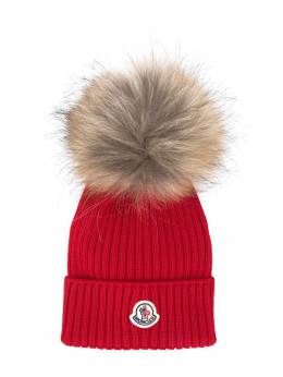 Moncler Kids - logo knitted hat 966565S6995339069000