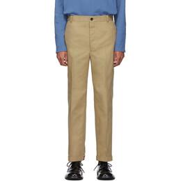 Thom Browne Khaki Twill Cavalry Chino Trousers 192381M19101805GB