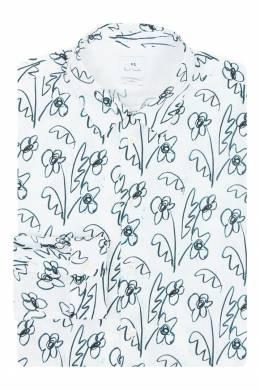 Белая рубашка с узором Paul Smith 1924144504