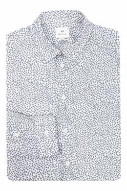 Рубашка из хлопка с узором Paul Smith 1924144492