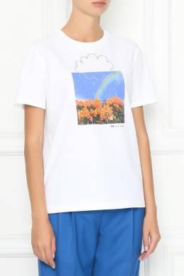 Белая футболка с комбинированным принтом Paul Smith 1924144197