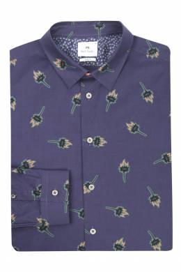 Рубашка из хлопка с узором Paul Smith 1924144670