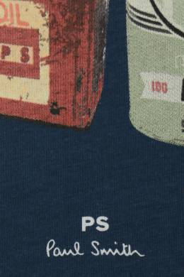 Хлопковая футболка с принтом Paul Smith 1924144669