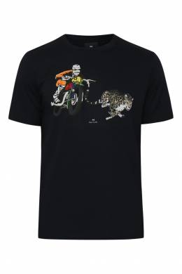 Черная футболка с принтом Paul Smith 1924144668