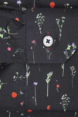 Рубашка из хлопка с узором Paul Smith 1924144531