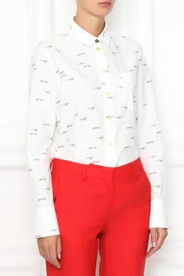 Рубашка из хлопка с узором Paul Smith 1924144192