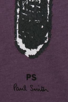 Футболка из хлопка с принтом Paul Smith 1924144573