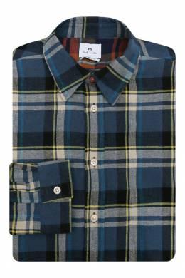 Рубашка из хлопка с узором клетка Paul Smith 1924144817