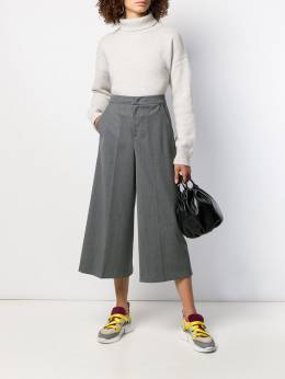 Twin-Set - cropped wide-leg trousers TP035095330336000000