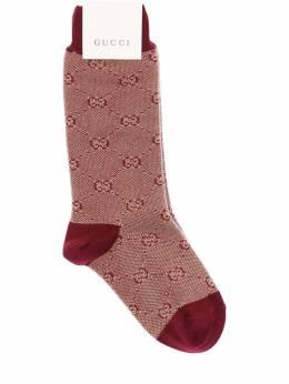 Носки Из Хлопкового Трикотажа С Логотипом Gucci 70IFHA032-OTg3NA2
