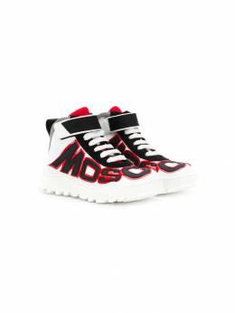 Moschino Kids - высокие кроссовки с логотипом 90V0T956856690000000