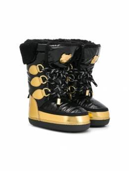 Moschino Kids - сапоги на шнуровке 39V9T956853600000000
