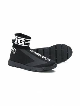 Dolce & Gabbana Kids кроссовки-носки с логотипом DA0751AA103T