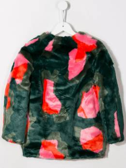 Kenzo Kids - faux-fur midi coat 56685395360300000000