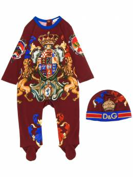 Dolce & Gabbana Kids комбинезон с принтом L1JO0KG7TQW