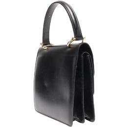 Celine Black Leather Double Flap Handbag 218817