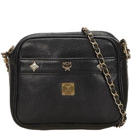MCM Black Leather Chain Crossbody Bag 214365