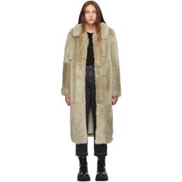 Stella McCartney Beige Fur Free Fur Coat 192471F05901505GB