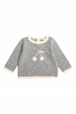 Вязаный свитер серого цвета Bonpoint 1210147406