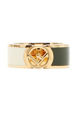Золотистое кольцо с логотипом Fendi 1632147783