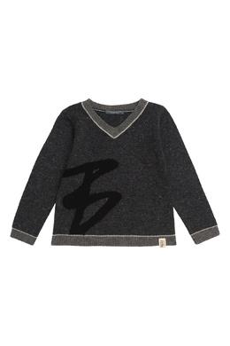 Серый свитер с вкраплениями Bonpoint 1210147608