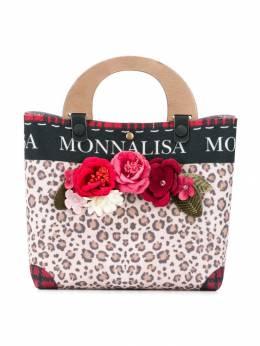 Monnalisa сумка-тоут с леопардовым принтом 1940304751