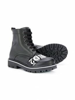Dsquared2 Kids - printed combat boots 55953969650000000000