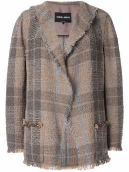 Giorgio Armani - plaid fitted blazer GG6AHT693V9506350300