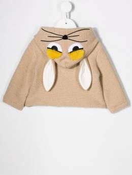 Fendi Kids - bunny hood wool coat 605A8LH9533833900000