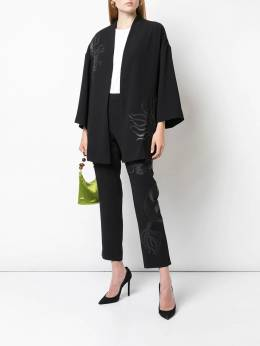 Natori - embroidered cropped trousers 36695356655000000000