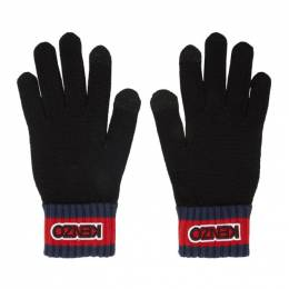 Kenzo Black Logo Tag Gloves 192387M13500201GB