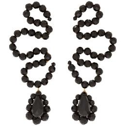 Simone Rocha Black Wiggle Earrings 192405F02200601GB
