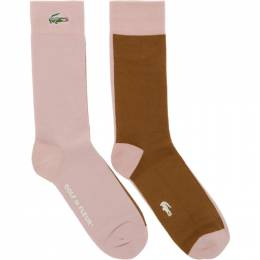 Lacoste Blue and Off-White Golf le Fleur* Edition Colorblocked Socks 192268M22000101GB