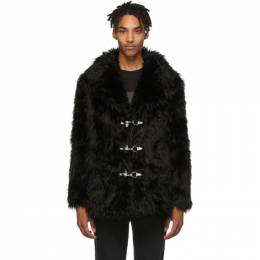 Faith Connexion Black Faux-Fur Coat 192848M17900102GB
