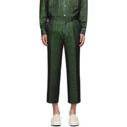Sies Marjan Green Lurex Cropped Trousers 192885M19101005GB