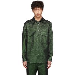 Sies Marjan Green Lurex Pocket Oskar Shirt 192885M19201102GB