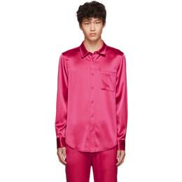Sies Marjan Pink Crinkled Satin Sander Shirt 192885M19201402GB